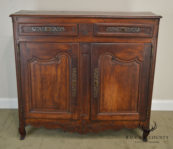 18th Century French Louis XV Style Carved Walnut 2 Door Server