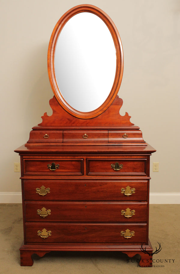 Lexington Cherry Wood Single Dresser with Mirror