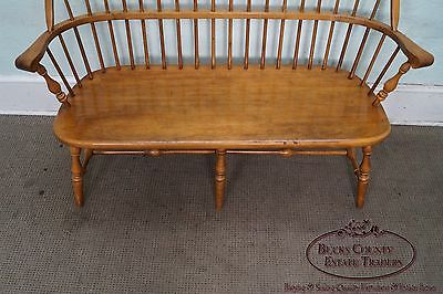 Ethan Allen Solid Maple Windsor Style Bench