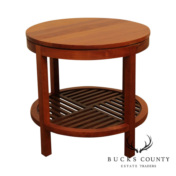 Stickley Metropolitan Cherry Round Lamp Table (A)
