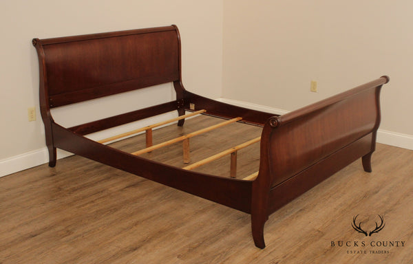 Ethan Allen Cherry Queen Size Sleigh Bed