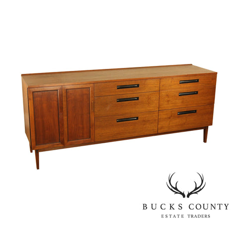 Directional Calvin Furniture Co. Mid Century Modern Walnut Long Dresser or Sideboard