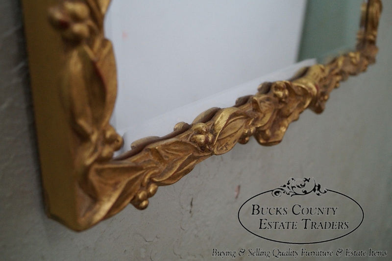 Carvers Guild Gold Gilt Carved French Style Wall Mirror