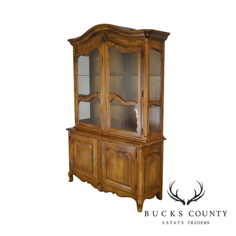 Ethan Allen French Country China Cabinet
