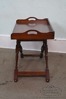 Pennsylvania House Solid Cherry Folding Base Tray Top Serving Table