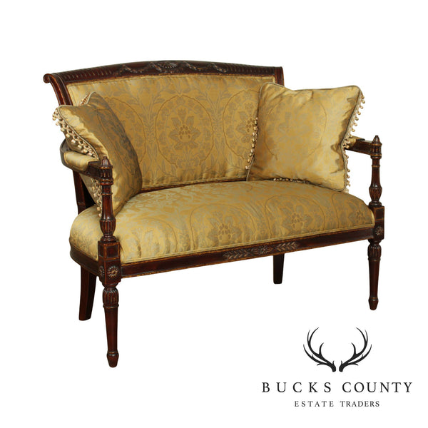 French Directoire Louis XVI Style Settee Loveseat