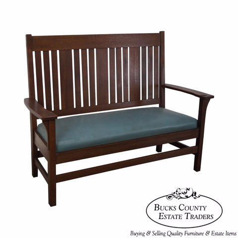 Antique Mission Oak Settee (possibly Stickley)