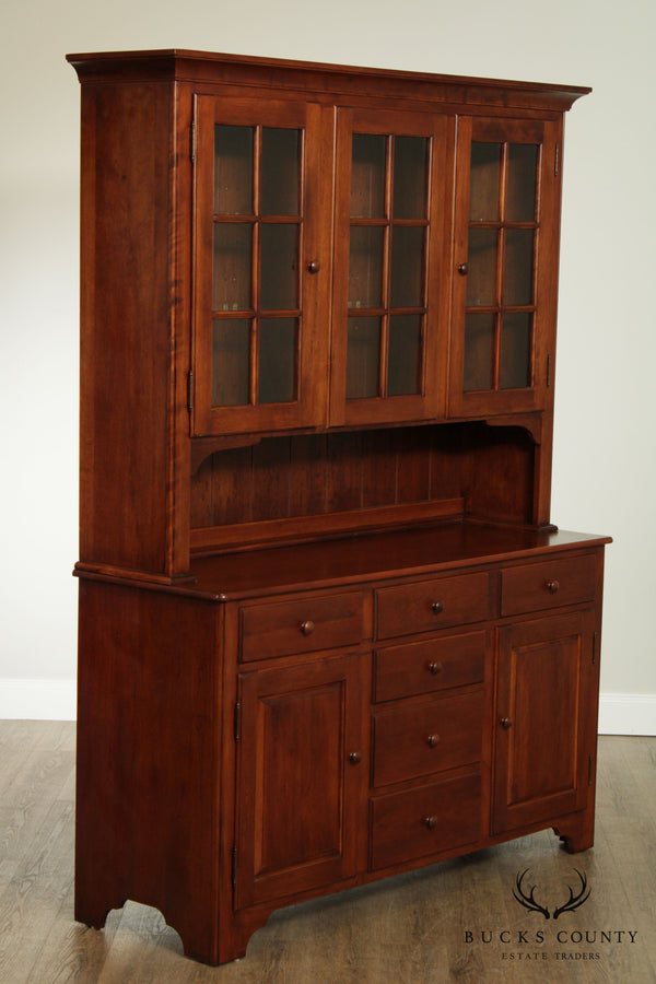 Nichols & Stone Solid Maple Hutch Cabinet