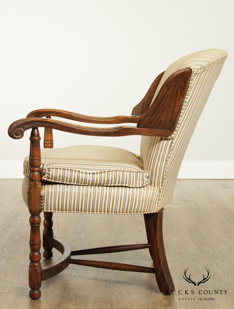Jamestown Lounge Feudal Oak Vintage Armchair
