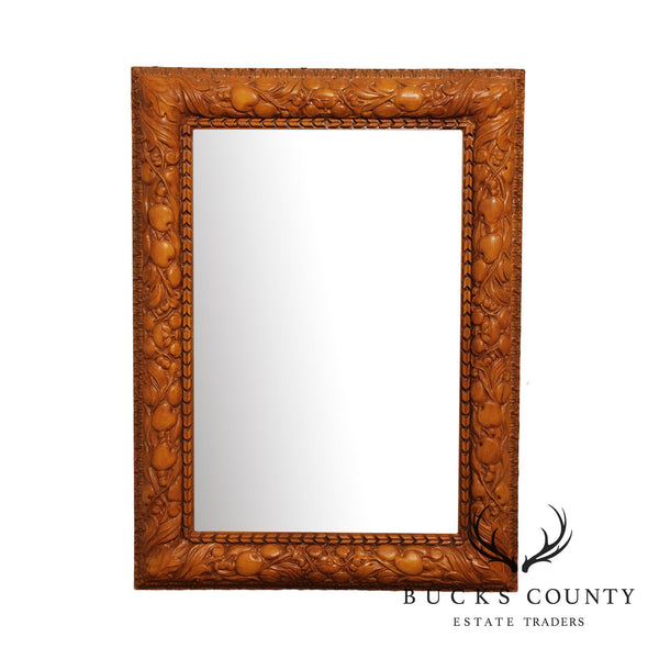 Friedman Brothers Fruit Carved Beveled Wall Mirror
