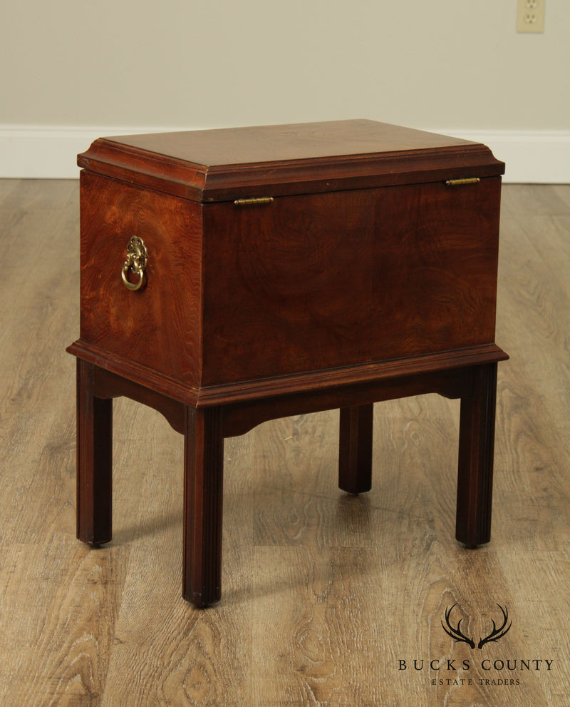 Lane Regency Style Burlwood Box on Stand