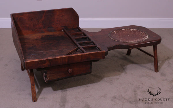 Antique Primitive Cobblers Bench Coffee Table