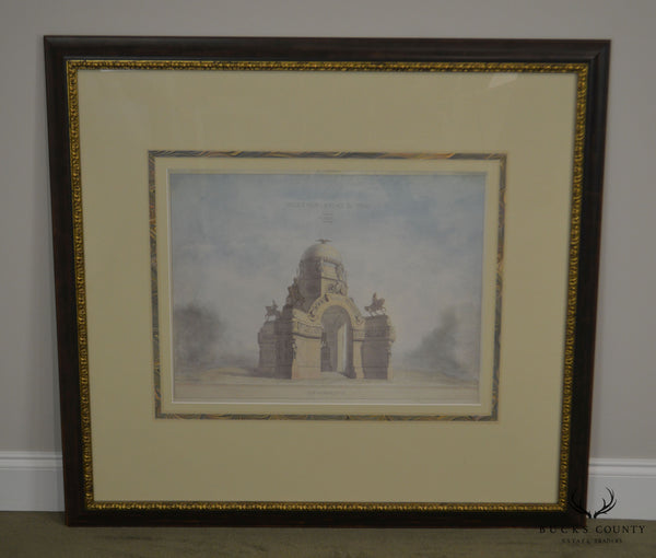 Arteriors Framed Paris Building Print (A)
