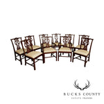 Maitland Smith Chippendale Style Mahogany Set 10 Dining Chairs