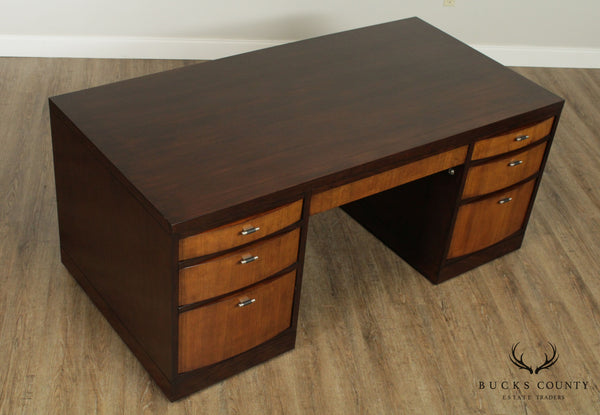 Sligh Art Deco Style Executive Partners Desk