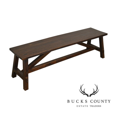 Rustic Custom Quality Mortised Trestle Bench