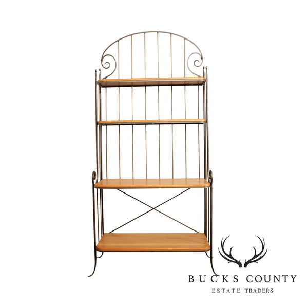 Charleston Forge Iron & Oak Etagere Bakers Rack