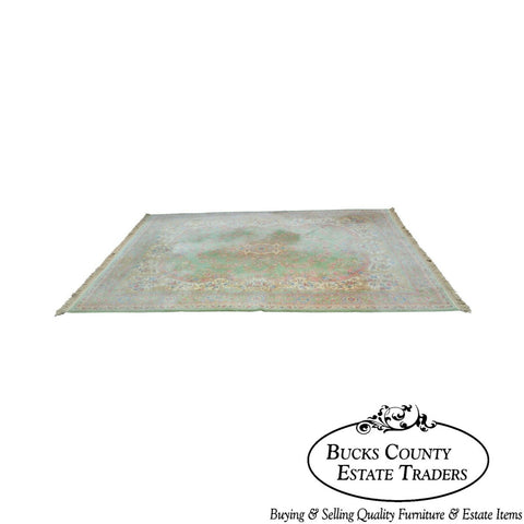 "Karastan Soft Green Kirman 8'7"" x 12'9"" Room Size Rug"