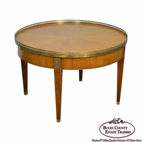 Baker Vintage Regency Directoire Style Round Coffee Bouillotte Table