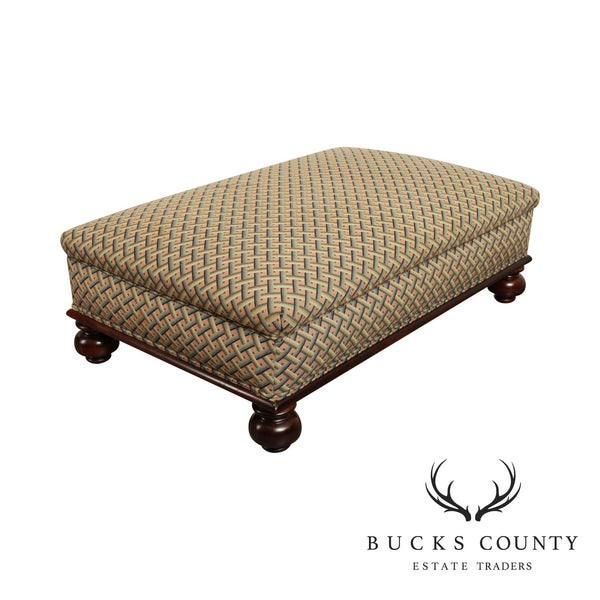 Large Custom Upholstered Coctail Ottoman