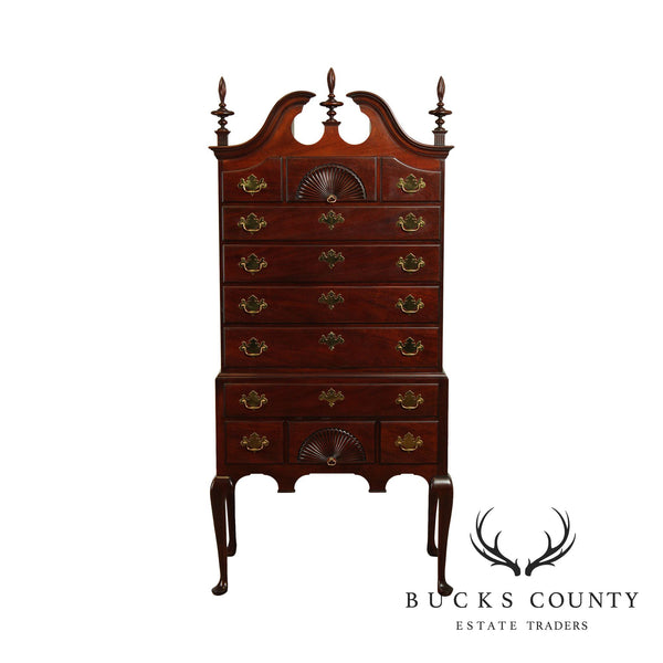 Kindel Queen Anne Style Mahogany Highboy