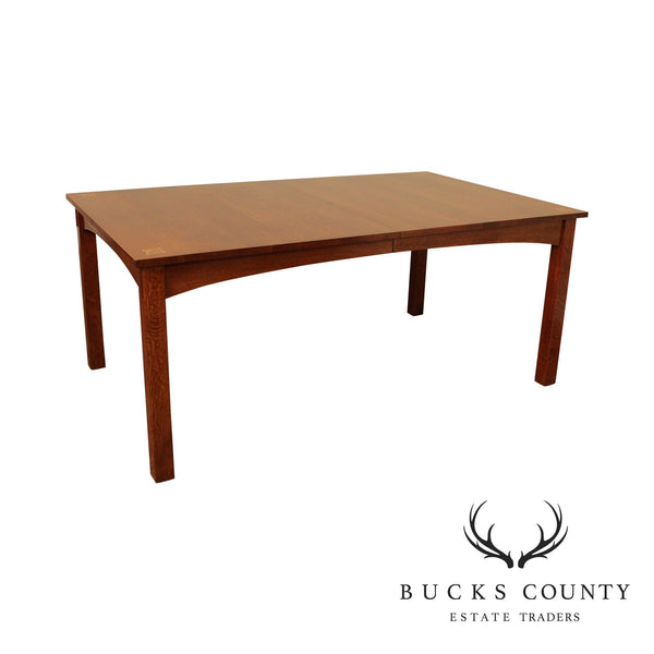 Stickley Mission Collection Oak Harvey Ellis Inlaid Dining Table