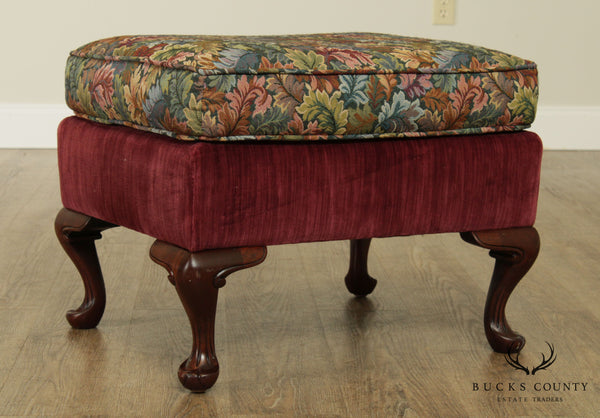 Queen Anne Style Quality Solid Mahogany Ottoman