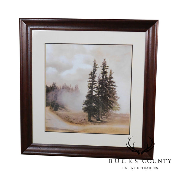 """Crystal Lake 1"" Color Offset Lithographed Art Print Framed (Stickley)"