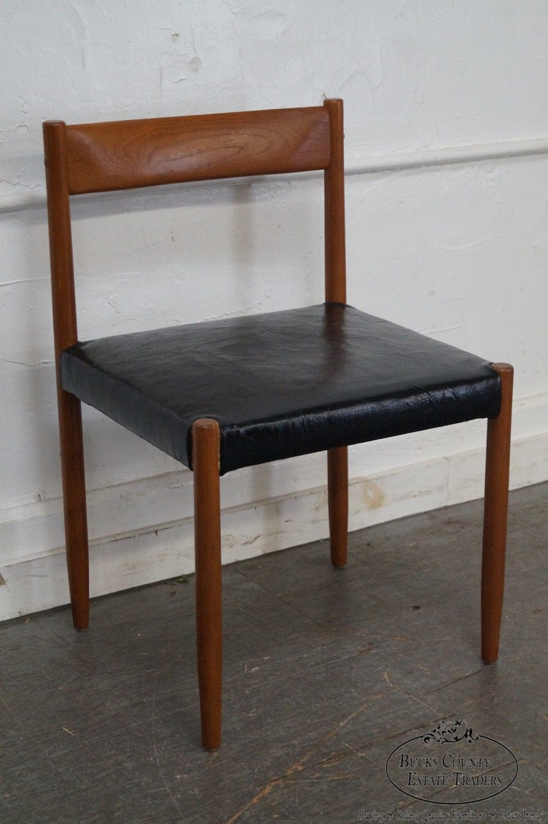 Danish Modern Mid Century Set of 6 Solid Teak Dining Chairs