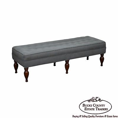 Quality 6 Leg Tufted Window Bench