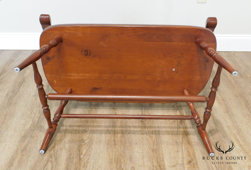 Tom Seely Custom Solid Cherry Windsor Bench (A)
