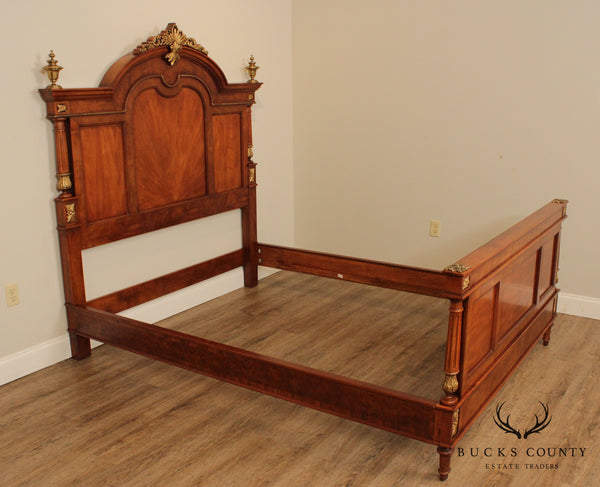 Henredon French Louis XVI Style Walnut Queen Size Bed