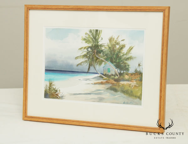 Lee Everett Tropical Sea Scape Watercolor Painting