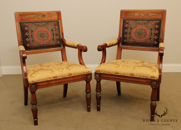 Henredon Grand Provenance Collection Pair French Louis XVI Style Armchairs