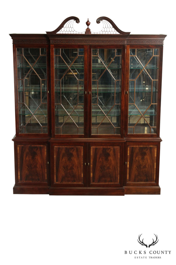 Stickley Georgian Style Mahogany Breakfront