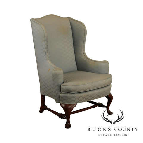 Hickory Chair Vintage Mahogany Queen Anne Wing Chair Frame