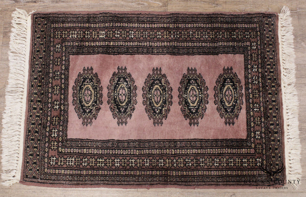 Vintage Hand Woven Bokara Throw Rug
