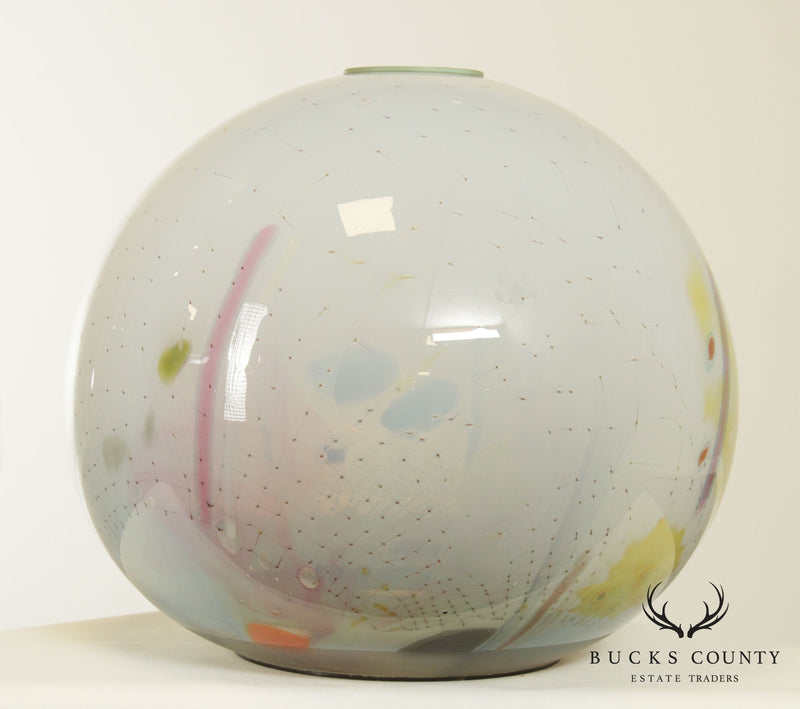 Robert Palusky Studio Art Glass Orb Sculpture or Vase