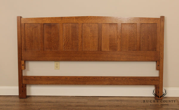 Stickley Mission Collection Oak Panel King Headboard