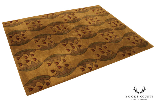 Stickley 8' x 10' Light Tulip Fest Art & Crafts Designer Rug