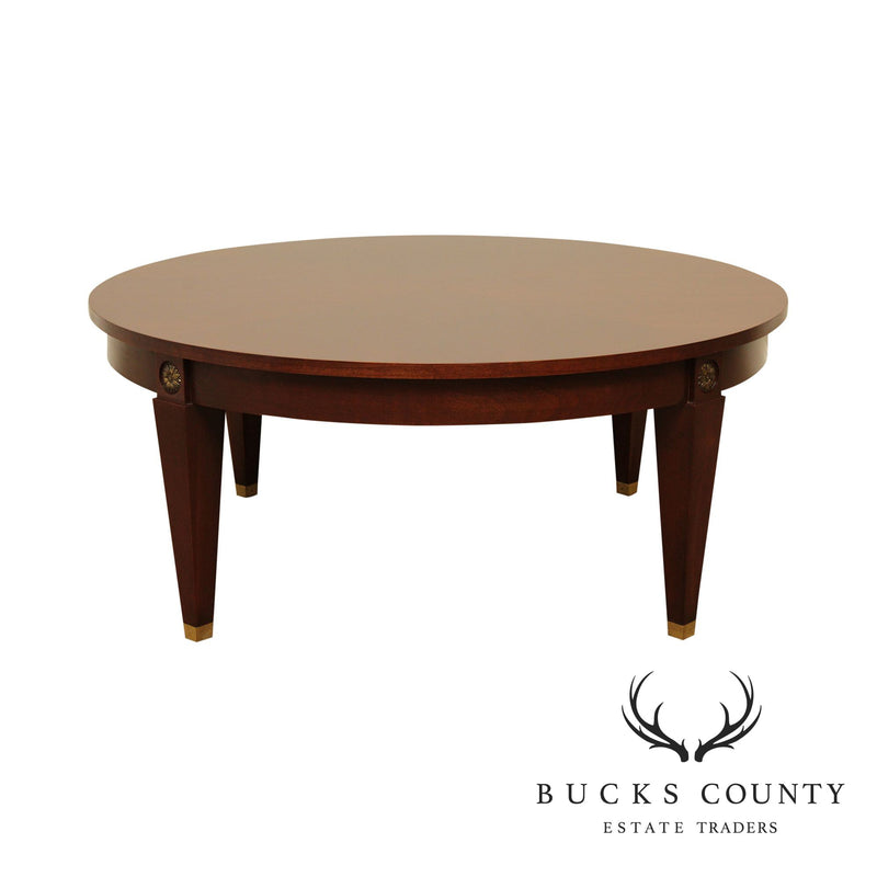 Ethan Allen Medallion Collection 40 inch Round Cherry Coffee Table