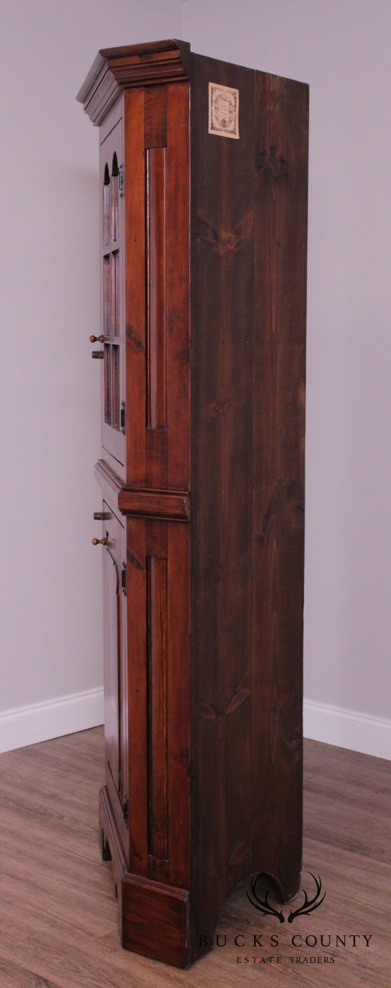 Stephen Von Hohen Hand Crafted Country Pine Corner Cabinet
