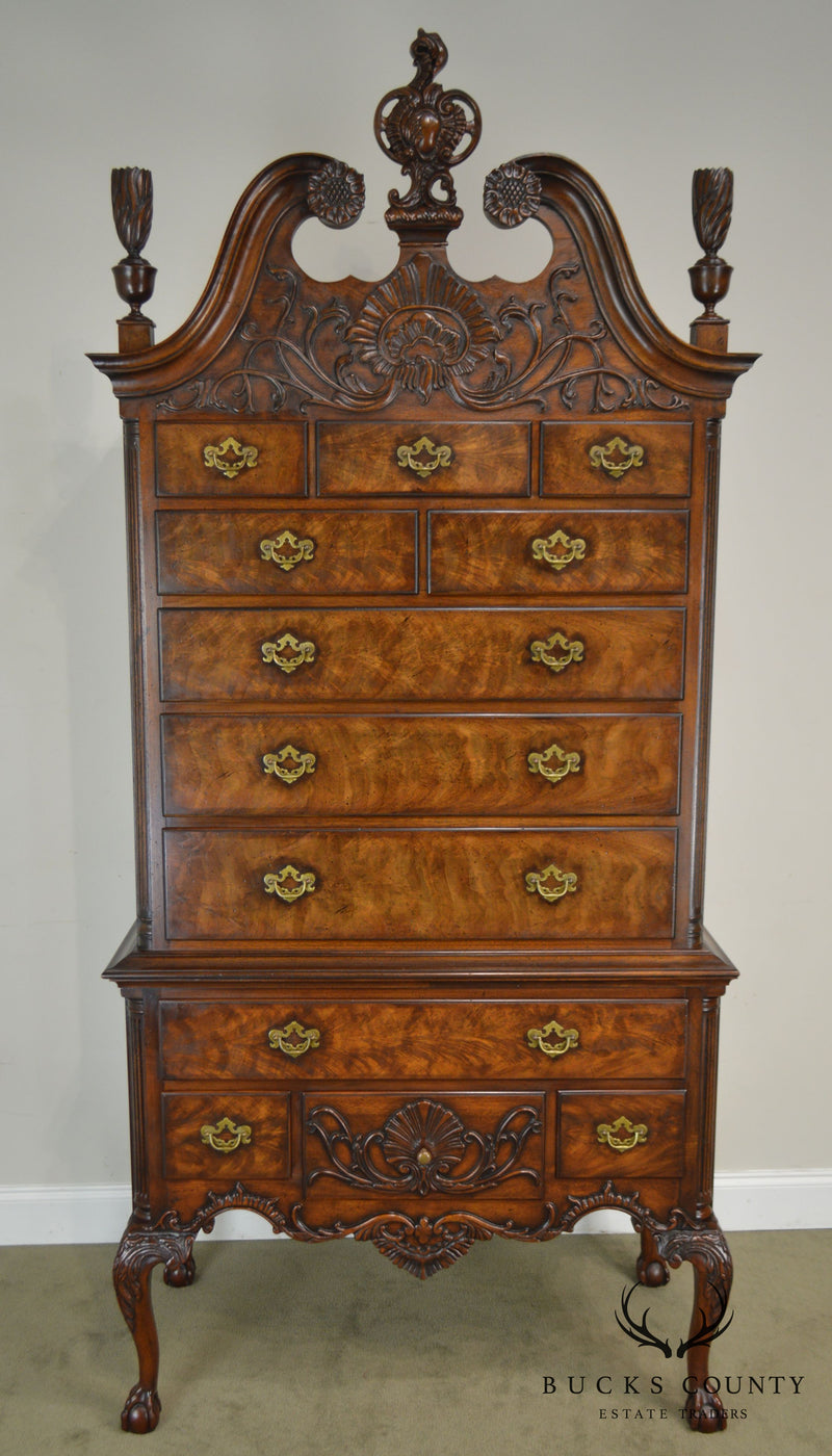 Wright Table Company Limited Edition Mahogany Carved Ball & Claw Chippendale Highboy