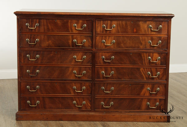 Custom Mahogany Large 6 Drawer File Cabinet
