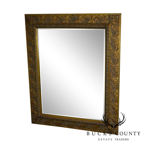 Gilt Frame Beveled Wall Mirror By Tobi