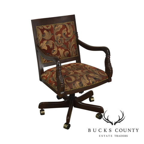 Empire Style Dolphin Carved Executive Office Desk Chair