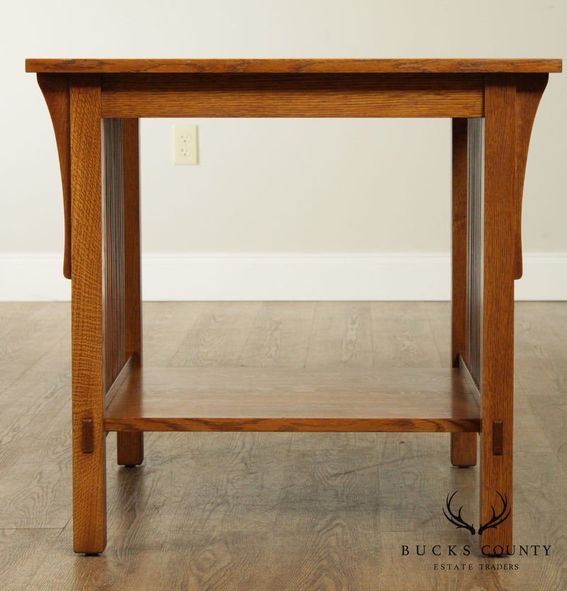 Stickley Mission Collection Oak Spindle Side Table
