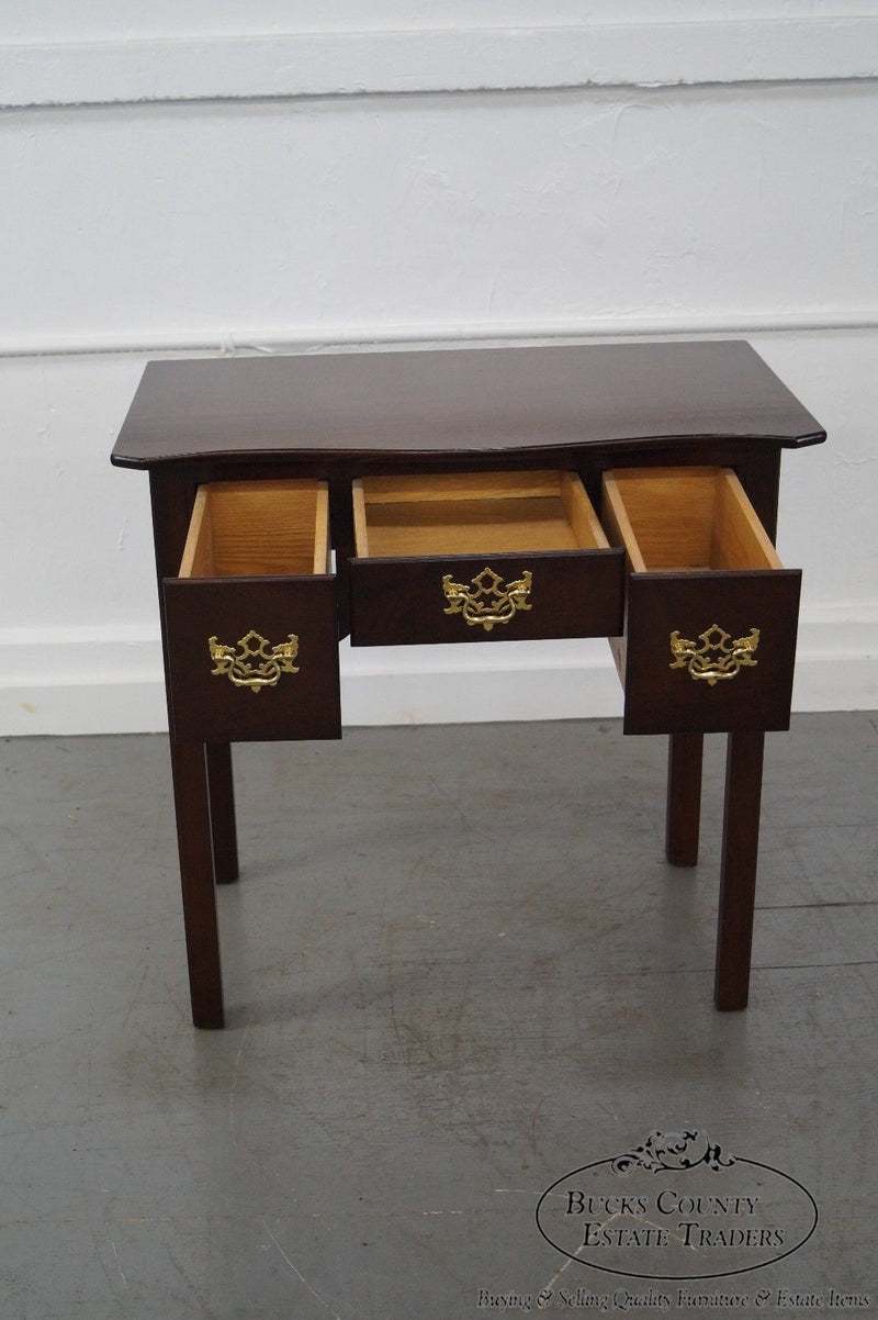 Solid Mahogany Chippendale Style Lowboy Console by Madison Square