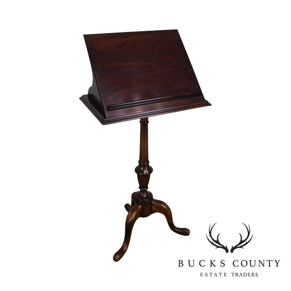 Quality Queen Anne Mahogany Pedestal Book Stand