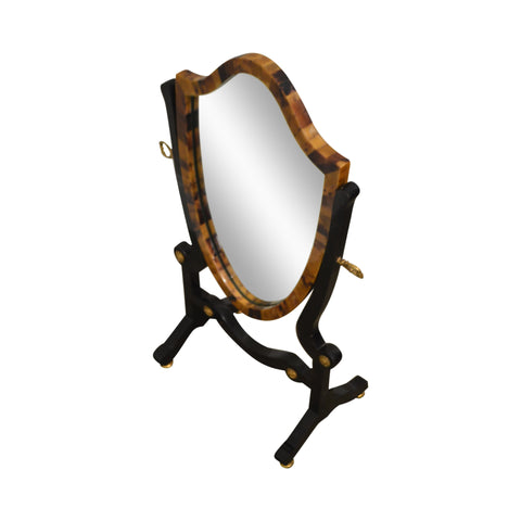 Maitland Smith Tessellated Horn Table Top Dressing Vanity Mirror